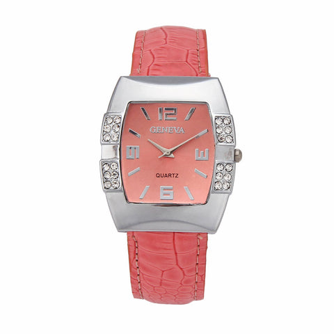 2015 Super Hot, 1PC New Geneva Women Watch Crystal Reloj Mujer Rhinestone Relogio Watches Quartz Watch Girl Montre, Best Gift - onlinejewelleryshopaus