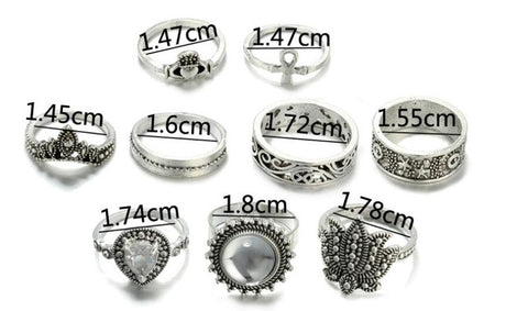 Factory Direct Fashion Finger Rings Set Fine Jewelry Accessories Cat Eye Crown Carving Women Rings Funny Body Jewellery Ring
