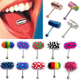 Fashion Women Men Rock Personality Vibrating Tongue Ring Body Piercing Jewelry With 2 Batteries plugs and tunnels body jewelry - onlinejewelleryshopaus