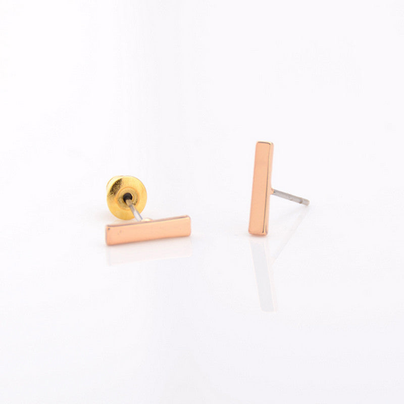 c73223acc Punk Style Simple T Bar Earrings Stud Earrings Punk Ear Jewelry Rock Gothic  Unisex Ear Stud