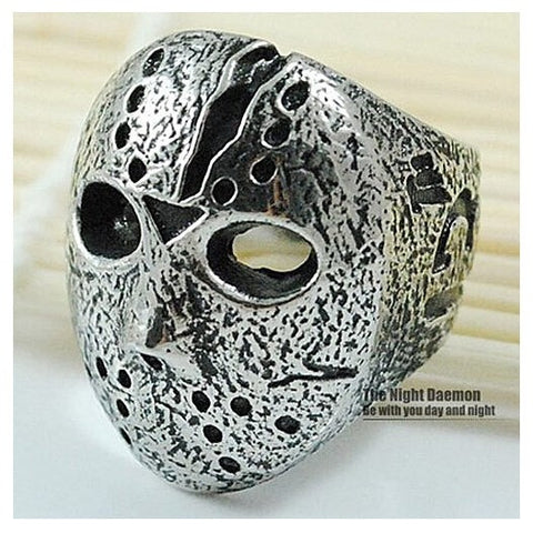 Black Friday Hockey Jason Mask SKull Rings Novel Mens 316L Stainless Steel Jewelry, ROCK, Biker, Wholesale, free shipping  VR063 - onlinejewelleryshopaus
