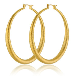 European Style Big Circle Earrings Girls 18K Real Gold Plated Punk Large Hoop Earrings Fashion Wedding Party Jewelry Wholesale - onlinejewelleryshopaus
