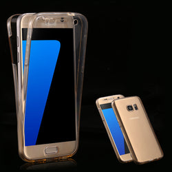 Clear Case for Samsung Galaxy S7 S7 Edge Accessories Transparent 360 Degree Protective Phone Cover for Galaxy S7 S7 Edge TPU - onlinejewelleryshopaus