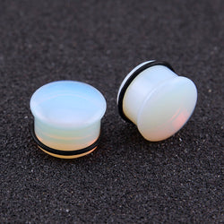 5~18mm Opalite Plugs and Tunnels Natural Stone Ear Expander O-ring Ear Stretching Gauge Kit Piercing Body Jewelry Plug Tunnel - onlinejewelleryshopaus