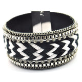 2014 new fashion women bracelet High-quality  Multi-chain stitching leather bracelets & Bangles - onlinejewelleryshopaus