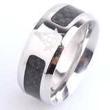 8mm carbon fiber Free mason 316L Stainless Steel wedding rings for men women wholesale - onlinejewelleryshopaus