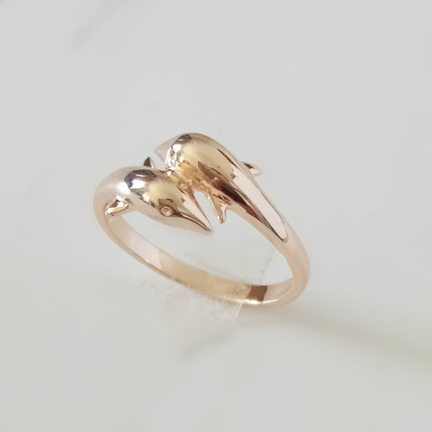 1 Piece Women Rings Trendy 585 Gold Jewellery Lovely Dolphine Shape Women Ring Party Ring Designs for Women - onlinejewelleryshopaus
