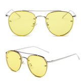 Fashion Women's Gold Retro Cat Eye Sunglasses Oversized Designer Vintage Shades - onlinejewelleryshopaus