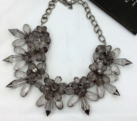 Trendy Acrylic Flower Set Auger Statement Necklaces Vintage Choker Collares Maxi Necklace Collier Femme Fashion Jewelry - onlinejewelleryshopaus