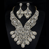 Drop shipping New design high quality crystal bridal jewelry sets hot sale noble jewelry wedding accessory 2015 india jewellery - onlinejewelleryshopaus