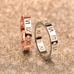 Luxury Brand Celebrity Jewelry Ceramic Titanium Steel Couple Rings for Men Women Rose Gold Plated Ring-( Size 3.5  5 6 7 8 9 10) - onlinejewelleryshopaus