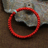 Mdiger Brand New Chinese Style Men Women Unisex Bracelet Braided Lucky Red String Bracelet Handmade Weaving Bracelets for Men - onlinejewelleryshopaus