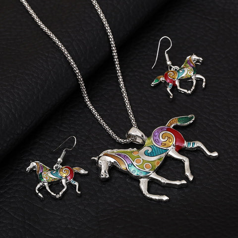 ZOSHI Fashion Jewelry Sets Hight Quality Necklace Earrings Sets For Women Jewelry Gold Plated Horse Unique Design Party Gift - onlinejewelleryshopaus