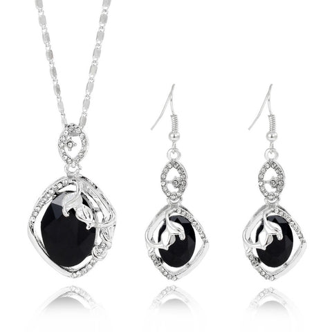 ZOSHI 2017 Austrian Crystal Jewelry Sets For Women Fashion african beads jewelry set Silver Plated Bridal Wedding Jewelry Sets - onlinejewelleryshopaus