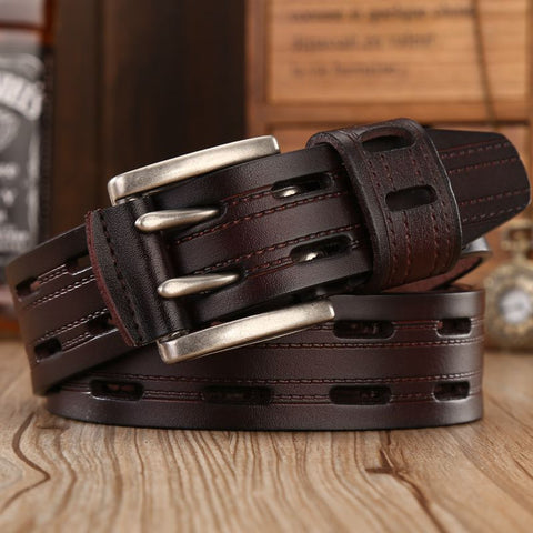 2017 brand New Fashion Leather Belt men Genuine Largo belts cow leather women's waist strap Superior quality for jeans - onlinejewelleryshopaus