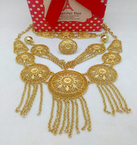 Quality Mukun Dubai Gold Plated Jewelry Sets Nigerian Wedding African Beads Crystal Bridal Jewellery Set Rhinestone Jeweller - onlinejewelleryshopaus