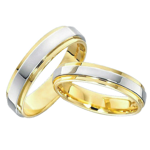 classic anillos gold plated jewelry lovers engagement mens and womens wedding band promise rings sets for couples - onlinejewelleryshopaus