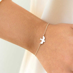 Tiny Peace Dove Bracelet Soar Flying Birds Bracelet Little Cute Swallow Baby Bird Bracelets Abstract Bracelets - onlinejewelleryshopaus