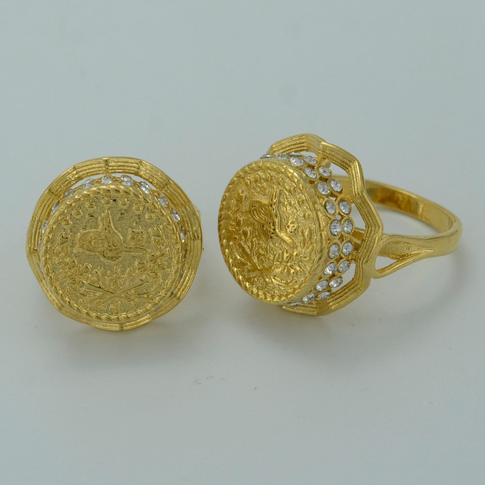 07a6aa5686ece 1 piece / NEW Gold Coin Ring for Women,Arab Coin Rings for Girl - Yellow  Gold Plated Turks Coins Jewelry Turkey Items #003212