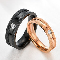 Black Stainless Steel Rings for Men (Apply your own engraving)