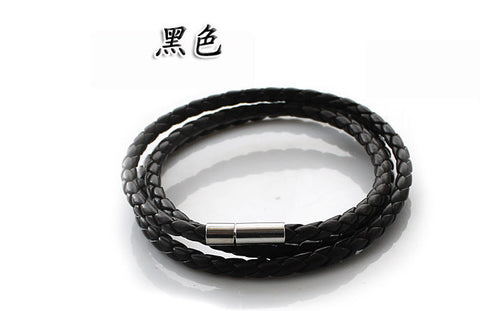 Free Shipping 2016 New Personality Fashion Men Jewelry  Punk Leather Bracelet Hand Rope Bracelets & Bangles Pulseras SA037 - onlinejewelleryshopaus