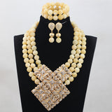 2017 Trendy White Coral Jewellery Set Charming White Round Beaded African Bridal Jewelry Sets for Women Free Shipping  ABH244 - onlinejewelleryshopaus