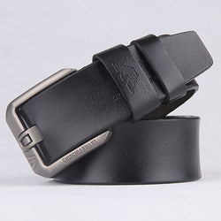 2016 Fashion Designer Belts Men High Quality Brand Leather small hole Square Big buckle trending style ceinture homme Man Belt - onlinejewelleryshopaus