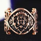 World of Warcraft Ring WOW Tribal alliance logo Opening men rings Game hand decorated golden silvery Rose Gold Men jewelry rings - onlinejewelleryshopaus