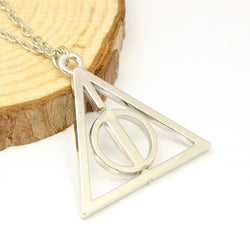 Deathly Hallows Triangle artifact rotatable Pendent Alloy Necklace Fashion Gift For Fans High Quality Movie Jewelry Necklaces - onlinejewelleryshopaus