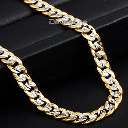 Trendy 6mm Gold Filled Necklace Bracelet Womens Mens Necklace CURB CUBAN Cut Round Chain GN275 - onlinejewelleryshopaus