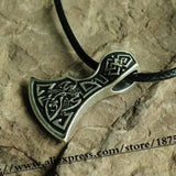 1pcs Viking Axe Perun's Axe Slavic Viking Jewelry men Amulet Pendant necklace Thor Hammer personality handmade jewelry - onlinejewelleryshopaus