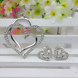 2015 New Arrival Alloy & Rhinestone Necklace & Earring Sets Newest Jewelry Sets Heart Shape Fashion Jewelry Set For Lady Woman - onlinejewelleryshopaus