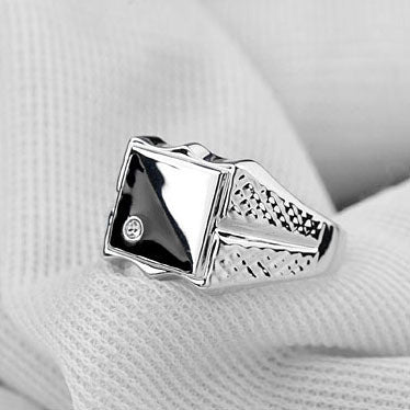 2015 Fashion Italina Jewelry Men Ring Plated Luxury Mini CZ  Man Wedding Rings - onlinejewelleryshopaus