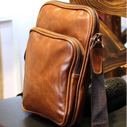 2017 New Men Messenger Bags leather Vintage Bag Men Shoulder Crossbody Bags for Man Brown Black Small Bag Designer Handbags - onlinejewelleryshopaus