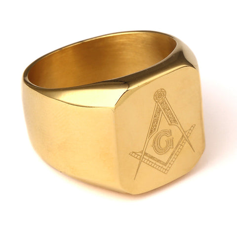 NYUK New Arrival Men Ring Gold Plated HIPHOP Ring Men Golden Rings Punk Rock Jewelry Anillos Bar Club One Ring For Wedding Gift - onlinejewelleryshopaus