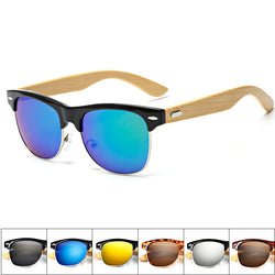 Men Sunglasses Wood Bamboo Retro Sunglasses 2016 Classic Visor Eye Glasses Women Cat Eye Brand Designer lunette de soleil Gafas - onlinejewelleryshopaus
