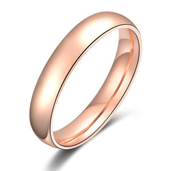 High Quality Real 22K Rose Gold Filled Titanium Steel Women Wedding Ring Never Fade Lovers Wedding Jewelry Free Shipping MAA5004 - onlinejewelleryshopaus