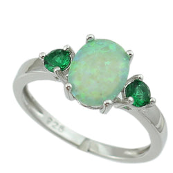 Green Fire Opal Women Claw Inay Fashion Jewelry Opal Ring Size 6 7 8 9 OR841 - onlinejewelleryshopaus
