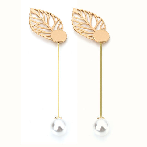 10pcs/lot Metal Leaf Shape Stick Brooch Pins For Women Men Jewelry Accessories Gold Plated Men Lapel Pins Brooch For Suit F5056 - onlinejewelleryshopaus