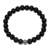 2017 New Arrival Diy Trendy Beads Charm Bracelets For Men Black Men Bracelets Lava Stone Jewelry Gift Free Gift Box - onlinejewelleryshopaus