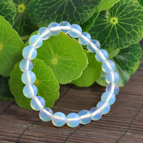 New Fashion Natural Opal Stones Buddha Pendant Beads Bracelet For Women Men Bracelet free shipping - onlinejewelleryshopaus