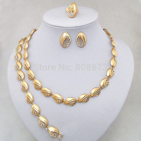 Elegant  Enamel Gold Plated Wedding Bridal Jewelry Sets Free Shipping Top Quality Guarantee!! - onlinejewelleryshopaus