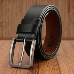 Pin Buckle Kemer Belts For Men Genuine Leather Wide Waist Belt Mens Leather Jeans Belt Fashion Correa Ceinture Homme Luxe Marque - onlinejewelleryshopaus