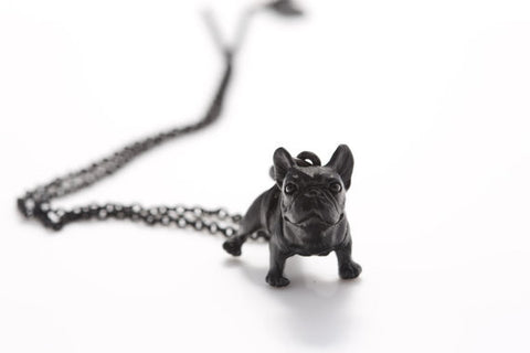 10Pcs Realistic French Bulldog Miniature Animal Shaped Pendant Necklace for Women Chain Jewelry Bib Collar Statement  Collares - onlinejewelleryshopaus