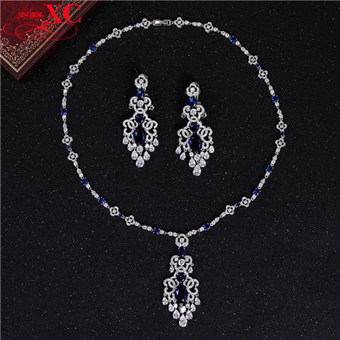 2016 Gorgeous Stone Top Quality Zircon Bridal Jewelry Sets CZ Diamond Wedding Jewelry Set for Women Engagement Gifts SMT0199 - onlinejewelleryshopaus