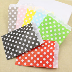CHEAP 25pcs candy bag Gift Bags Polka Dot paper sweet favour buffet bags New Year Wedding Party Favor decoration Food Packaging - onlinejewelleryshopaus