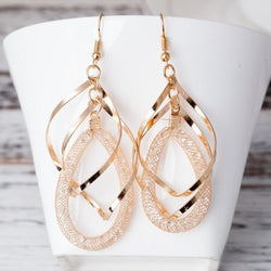 NEW Arrival handmade earrings 3 layers round Bohemia crystal Drop Earring women - onlinejewelleryshopaus