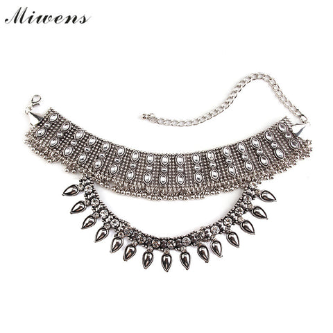Miwens Fashion Women Collar Choker Necklace Alloy Gold/Silver Plated Beads Chain Statement Necklaces Trendy collier Jewelry 6962 - onlinejewelleryshopaus