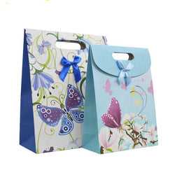 Free Shipping 12Pcs 12X16X6CM Butterfly Handbag Birthday Candy Box Christmas Portable Paper Bag Gift Bag - onlinejewelleryshopaus
