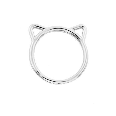 10Pcs/lot 2016 Fashion Wholesale Gold Cute Cat Ear shape Ring Jewelry Gold Hollow Animal Rings Simple Rings for Women JZ090 - onlinejewelleryshopaus